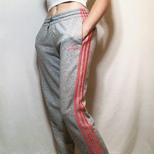 adidas 3 stripe joggers grey wash bright stripe